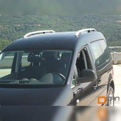 Рейлинги алюминиевые на Volkswagen Caddy 2004 - 2010 (серебристые)