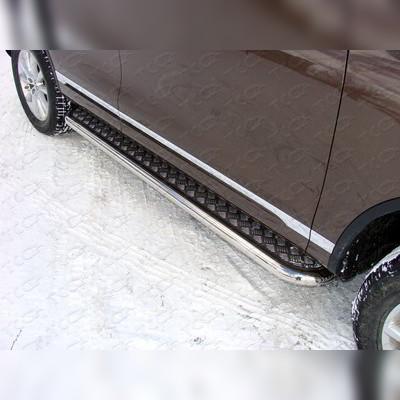Пороги с площадкой (алюминиевый лист)
