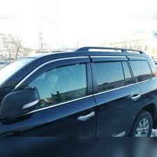 Дефлекторы окон с нержавеющим молдингом 6 частей Toyota Land Cruiser Prado 150, 2009 - 2022