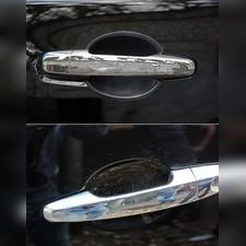 Вставки под наружные ручки дверей Mitsubishi L200 Single Cab, Club Cab 2007-2013