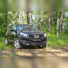 Защитная сетка решетки переднего бампера Nissan Qashqai 2011-2014