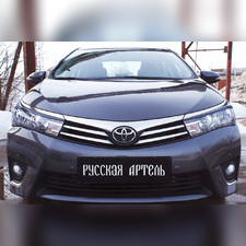 Накладки на передние фары (реснички) Toyota Corolla (седан) 2012-2015