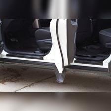 Накладки на внутренние пороги дверей Toyota Rav4 2013-2019