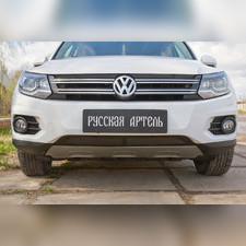 Защитная сетка решетки переднего бампера (Track & Field) Volkswagen Tiguan 2011-2015