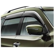 Дефлекторы окон с нержавеющим молдингом Nissan Qashqai (Тёмно-Дымчатые) Оригинал