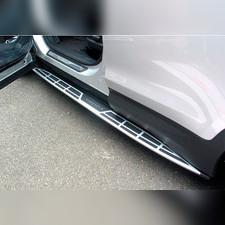 Комплект порогов Hyundai Grand Santa-Fe 2013 - 2018 (копия оригинала - OEM Style)