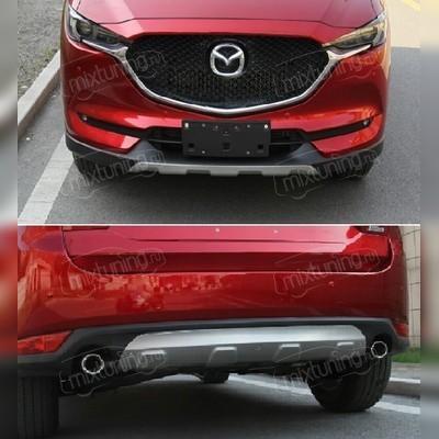 Накладка на передний и задний бампер Mazda CX-5 2017 - 2019