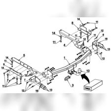 Фаркоп автомат для Toyota RAV 4 2013-нв