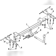 Фаркоп для Suzuki Grand Vitara (5Doors),(include engine 2,4) 2005-нв
