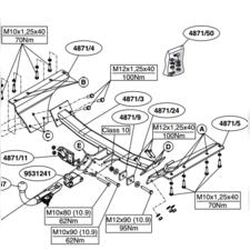 Фаркоп для Honda CR-V 2007-2012