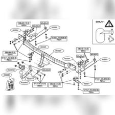 Фаркоп для Honda CR-V 2012-нв