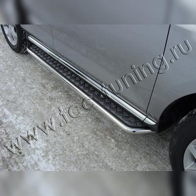 Пороги с алюминиевой площадкой 42 мм