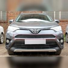 Зимняя защита радиатора Toyota Rav 4 2015-2019 (верхняя) (с камерой)