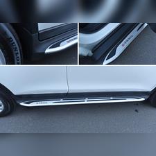 Пороги, подножки, ступени Nissan X-Trail (копия оригинала - OEM Style)