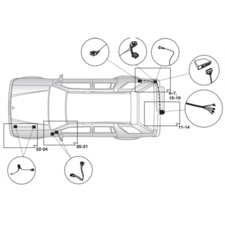 Штатная электрика для Mitsubishi Pajero V80 2007-нв