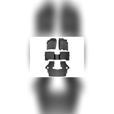 Коврики в салон черные комплект (1+2+3 ряд)