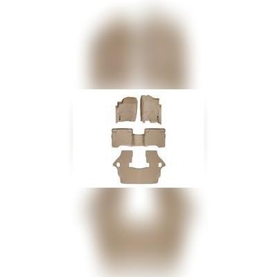 Коврики в салон бежевые комплект (1+2+3 ряд)