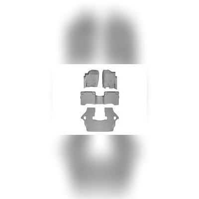 Коврики в салон серые комплект (1+2+3 ряд)
