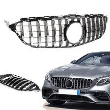 Решетка радиатора GT дизайн Mercedes C-klass (W205) (без камеры) хром