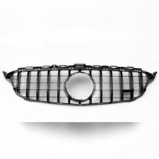 Решетка радиатора GT дизайн Mercedes C-klasse (W 205) черная (без камеры)