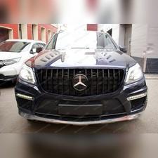 Решетка радиатора GT дизайн Mercedes-Benz GL-klass (X166) черная + эмблема
