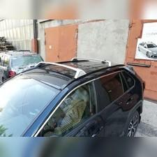 Поперечины, багажник на штатные рейлинги Toyota Rav 4 2019-нв (OEM) Серебристые