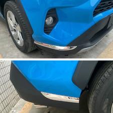 Накладки на передний и задний бампер Toyota RAV 4 2019 - нв (нержавеющая сталь) 4 штуки