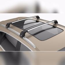 """Багажник аэродинамический на интегрированные рейлинги с замком, модель """"Air 2 Silver"""""""