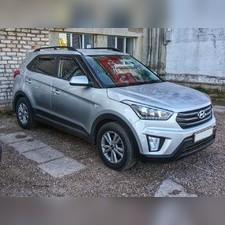Рейлинги продольные Hyundai Creta 2016 - нв (черные)