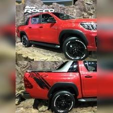 Расширители колёсных арок Toyota Hilux 2018 - нв (комплект 6 частей, вынос 20мм)