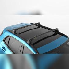 Багажник с замком на оригинальные рейлинги Audi Q7 2015-нв (черный)