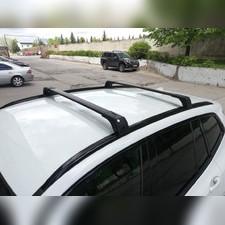 Багажник аэродинамический BMW X6 2014 - нв на интегрированные рейлинги с замком SKYBAR (черные)