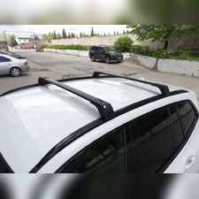 Багажник BMW X3 2017 - нв G01 на интегрированные рейлинги с замком SKYBAR (аэродинамические, черные)