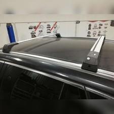 Поперечины на интегрированные рейлинги с замком Opel Zafira 2006-2011(аэродинамические, серебристые)