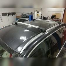 Поперечины на интегрированные рейлинги с замком BMW X5 2018-нв G05 (аэродинамические, серебристые)