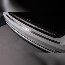 Накладка на задний бампер (лист шлифованный надпись Audi)