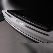 Накладка на задний бампер (лист шлифованный надпись логотоп, кольца)