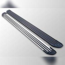 Пороги алюминиевые Slim Line цвет серебро