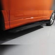 Пороги алюминиевые 'Slim line Black' длина 1780 мм