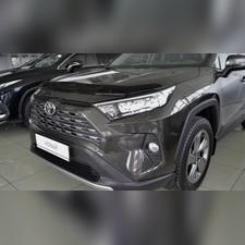 Дефлектор капота Toyota RAV 4 2019 - нв (темный)