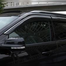 Дефлекторы, ветровики окон с нержавеющим молдингом Ford Explorer 2010 - 2019 (комплект)