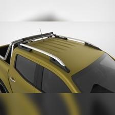 """Рейлинги на Mitsubishi L200 2007-2015, модель """"Falcon Silver"""" с задней поперечиной"""