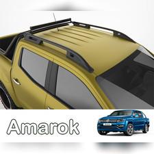 """Рейлинги на Volkswagen Amarok, модель """"Falcon Black"""" с задней поперечиной"""