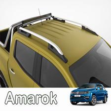 """Рейлинги на Volkswagen Amarok, модель """"Falcon Silver"""" с задней поперечиной"""