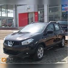 Рейлинги алюминиевые Nissan Qashqai 2+ 2006-2013 (серебристые)