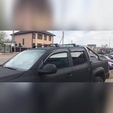 """Багажник, поперечины Volkswagen Amarok аэродинамические с замком, модель""""Turtle V3""""(в штатные места)"""