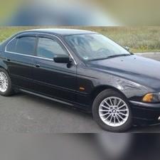 Дефлекторы, ветровики окон, BMW 5-E39 (1995-2003) седан (темные)