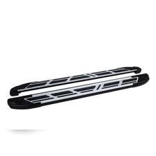 "Пороги, подножки, ступени Porsche Cayenne II (958) 2010 - 2018, модель ""Corund Silver"""