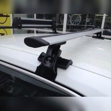 """Багажник на крышу с аэродинамическими поперечинами на Ford Focus 3, модель """"Крыло"""""""
