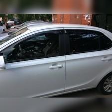 Дефлекторы, ветровики окон, Hyundai Solaris (2010-2017) седан (темные)